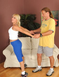 Super Horny 45 Year Old  Blond Andi Absolutely Loving a Hard Cock in Here