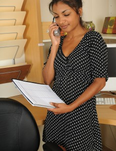 Handsome and Pervy Neela Peels off Her Office Attire After a Hot Phonecall